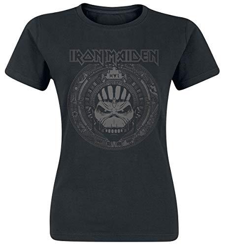 Iron Maiden Book of Souls Skull Donna T-Shirt Nero M 100% Cotone Regular