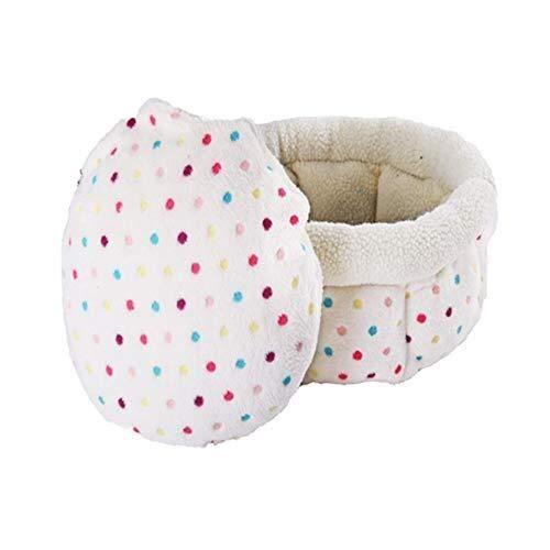 Nido cama del animal doméstico de piel de cordero mascota mascotas perros pequeños fuentes del gato del gato del perro nido cama nido Cat House Easy Clean mascota Sofá (blanco), 16.93 * 16.93 * 9.45