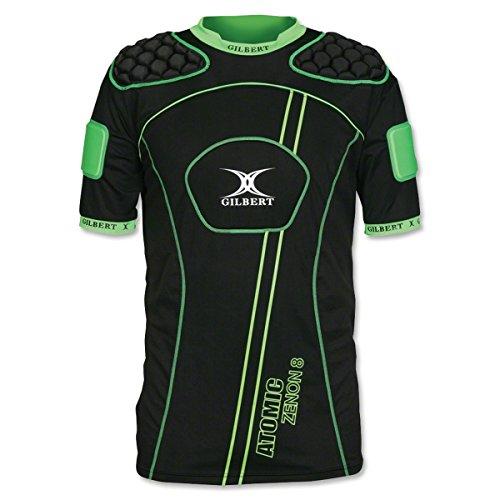 Gilbert Atomic Zenon V2 Rugby Body Armour - Black/Green - size XXL