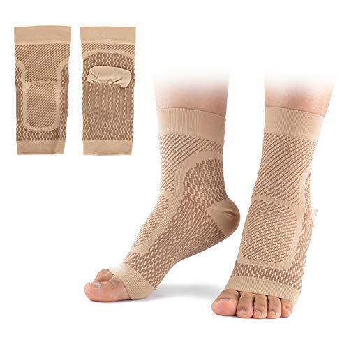 Alomejor 1 Paar Plantarfasziitis Socken Outdoor Sport Kompressionssocken Fußgelenk Bandage für Fußlinderung Schmerzen Knöchelschutz Gelenkschutz(L/XL-Knöchelschutz Hautfarbe)