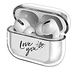 Perfectly Clear Compatible with AirPods PRO case - Precisely fits Apple AirPods Pro wireless charging case.This cute style of skin will make your Airpods PRO look very special and add more fun to your life. Crystal Clear & Lightweight Finish - Crysta...