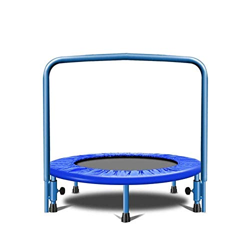 LKNJLL 36-Inch Trampoline for Kid Foldable Children Trampoline With Adjustable Handrail Safty Padded Cover Indoor/Outdoor Use for Child Age 3+