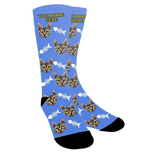 Aolun Calcetines Personalizados Foto,Personalizable Calcetines,Ponga la foto de la cara del perro, el gato y otras mascotas en calcetines