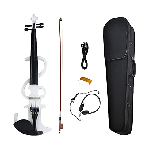 ANTENM 4 4 Tamaño Completo Violín eléctrico Fiddle 4 String Silent Violin Black Maple Wood