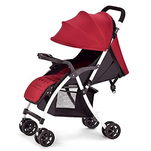 WWWANG - Cochecito de bebé portátil ligero de viaje, gran resistente al agua, toldo para bebés y niños, niñas unisex de 3 meses, 1, 2 años de edad y más. rosa rosa