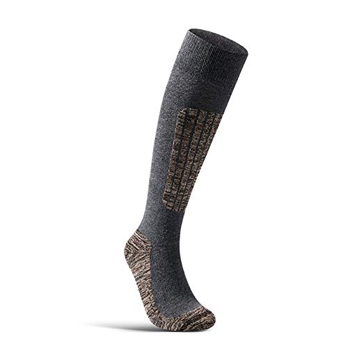 Ski Socken High Performance-Schnee-Skifahren Socken- Warm Outdoor Sports Stocking Für Skilaufen Wandern Snowboard Erwachsener Handtuch Unten Erwachsener Skisocken (3 Paar),Grau,L