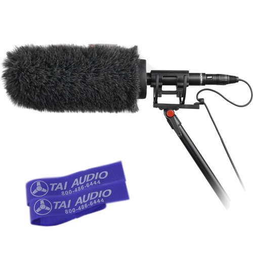 Rycote Softie Kit (Classic Softie & Universal Shock Mount) for MKH 416, Rode NTG Series Shotgun Mics with (2) TAI Audio Cable Straps
