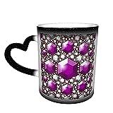 Senza cuciture Cristalli Viola Modello Tazze Di Caffè Tazza Di Ceramica Regali Personalizzati per Gli Amanti della Famiglia