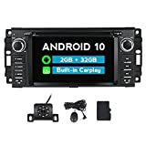 MekedeTech Android 10.0 Car Stereo Radio 6.2 inch Touch Screen for Jeep Wrangler JK Grand Cherokee Compass Chrysler Dodge Ram with BT GPS Support Apple Carply Andriod Auto Head Unit
