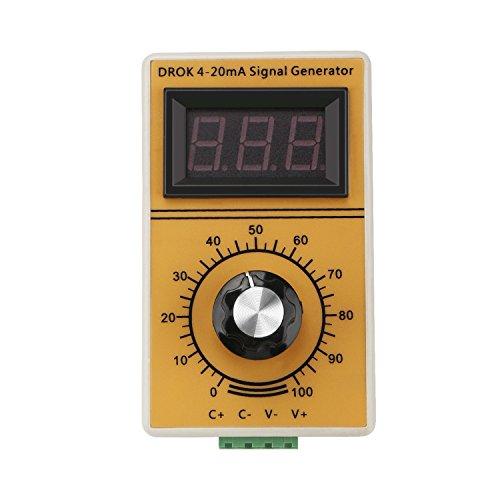DROK® 4-20 mA-Signalgenerator Konstantstromquelle Amperemeter, Handgerät Digitalanzeige Stromgenerator, Analog generiert Geeignet für Ventileinstellung/Frequenzumrichter Controlling/PLC Testing