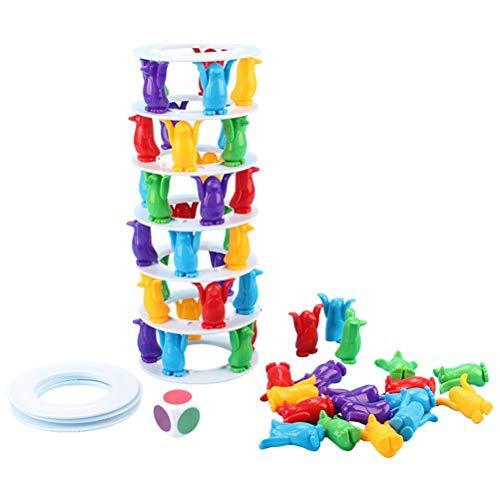 Tower Pinguine Stapelblöcke für Eltern und Kinder, interaktives Brettspiel