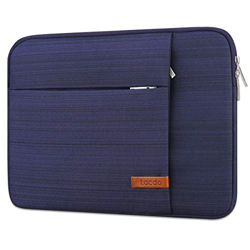 Lacdo 13.3 Inch Laptop Sleeve Case for 13 Inch MacBook Pro Retina 2012-2015/ MacBook Air 13' / 12.9 Inch iPad Pro, Dell HP Acer ASUS Samsung Lenovo Chromebook Notebook Bag Tablet, Water Resistant,Blue
