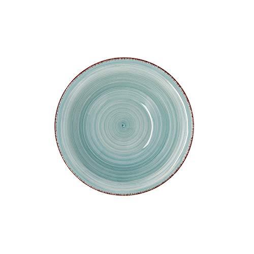 Quid Set 6 Cuencos para Sopa de cerámica gres | Platos hondos Turquesa 18 cm, Aqua, Estandar