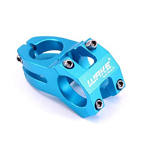 PONDWAY 31.8 Stem 28.6mm Mountain Bike Stem, 1-1/8' Bicycle Short Handle MTB Stem for 31.8mm Handlebar, Most Mountain Bike Road Bike Track Bike MTB BMX Fixed Gear Cycle Cycling (Blue)