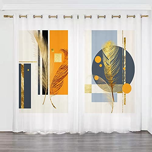 Taosheng INS Wind Nordic Minimalist Modern Curtain Shading Bedroom (Color : E3, Size : D4)
