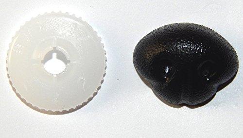 10 Sicherheits-Nasen - geprüft nach EN 71-3 - 18 x 13 mm - Ausführung SUPER - SCHWARZ