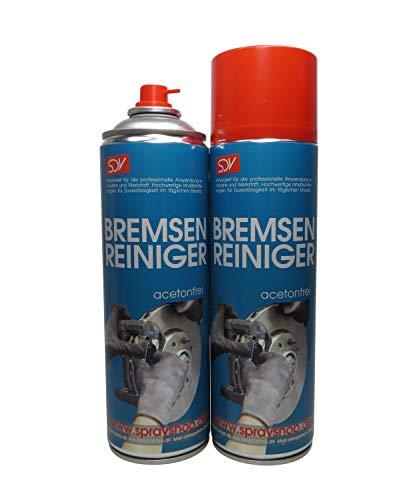 SDV Chemie Bremsenreiniger Spray 3X 500 ml Power Brake Cleaner 360° Ventil Teilereiniger