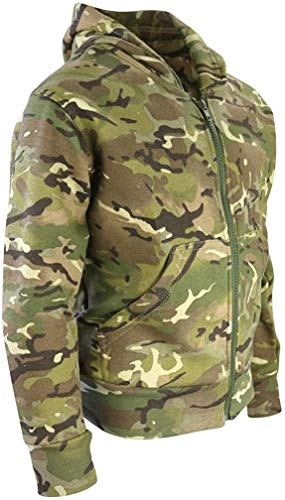Kombat UK Kinder Camo Hoodie, Kinder, Camo, British Terrain Pattern, 9-11 Years