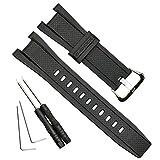 防水 天然樹脂 交換用腕時計ベルト カシオ GST-210 GST-W110 GST-W100 GST-S110 GST-S100 GST-B100 GST-S300 (Silver Buckle)