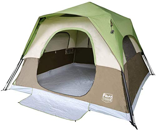 Timber Ridge Camping Tent 6 Person Instant Tent 10x10 Feet Portable Cabin Tent with Rainfly for Family Camping, Traveling, Hiking, Picnicing, Easy Set...