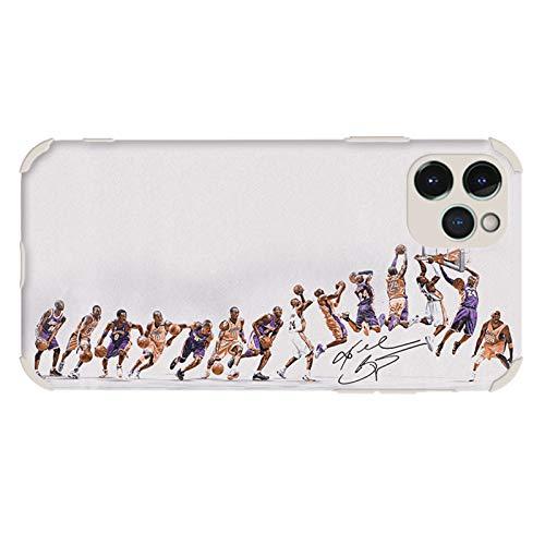 XMYP Funda clásica para iPhone 11/11 Pro/11 Pro Max, Kobe Lakers 24# fundas de teléfono para hombres y mujeres fanáticos, TPU protector anti-arañazos funda blanca - 11 Pro