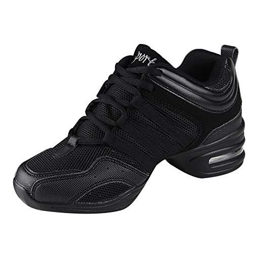 Daytwork Danza Deportes Zapatos Mujer - Lona Cordones Suela de Goma Zapatillas Informal Transpirables Calzado Jazz Contemporáneo Baile Running Aire Libre Sneaker (Los Zapatos Son más pequeños)