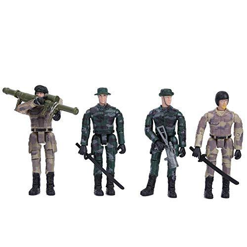 Soldado Modelo Militar, Juguete de Alta Simulaci¨®n Decoraci¨®n Soldados Figura Accesorios Set Juguete para Ni?os