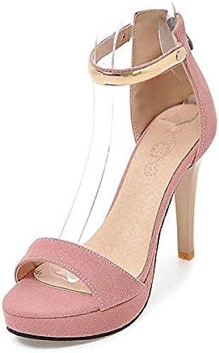 HOESCZS Tamaño 30-46 Decoración de Metal zapatos de plataforma de Tacones Altos Delgados Sandalias de Las mujeres zapatos de Fiesta Atractivos