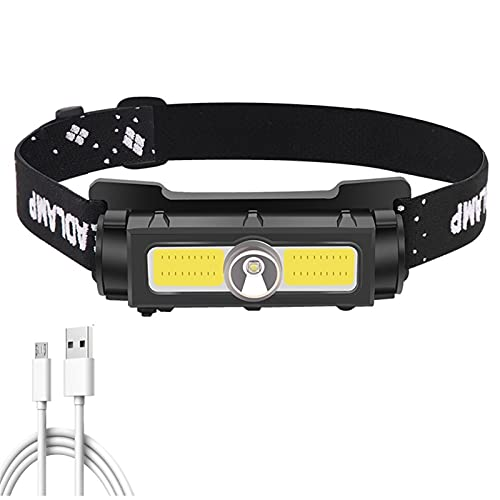 Linterna Frontal Batería integrada LED XP-G Luz magnética fuerte del faro. USB Bombillas de luces linternas de la linterna recargable (Emitting Color : Package A)