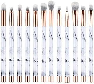 UNIMEIX Marble Makeup Brushes 12 PCs Makeup Brush Set Premium Synthetic Foundation Brush Blending Face Powder Blush Concea...
