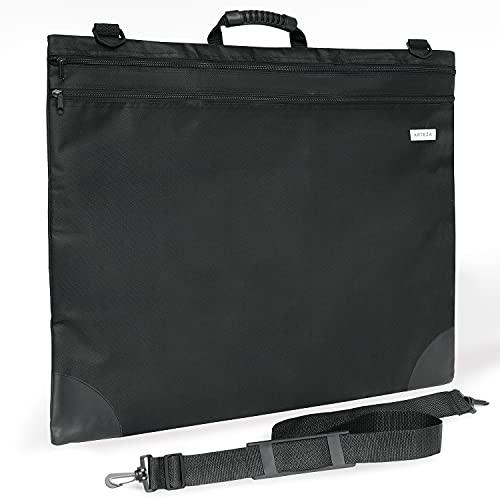 Arteza Art Portfolio Case, 20 x 26 inches, Black, Large Soft Art Storage Folder for Artwork Organization