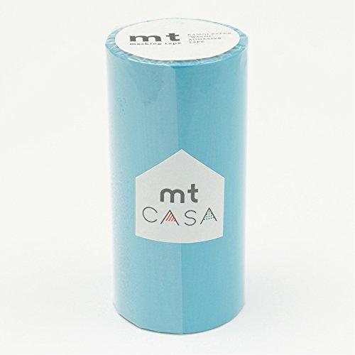 カモ井加工紙 マスキングテープ mt CASA 100mm 100mm幅×10m巻き みず MTCA1051