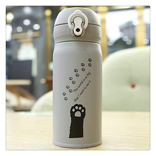 XXSHN SHENGHUO 500ml Cute Kawaii Cat Thermos Botellas de Agua Acero Inoxidable Vacío Bebida Café Frascos de Agua aislados