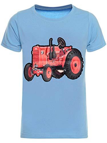 BEZLIT Kinder T-Shirt Jungen Shirt Kurzarm T-Shirts LED Licht Effekt 30034 Hellblau 152