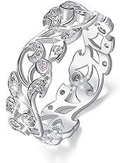CDE 指輪 リング レディース ピンキーリング 婚約指輪 結婚指輪 925シルバー アクセサリー CZダイヤモンド 誕生日 クリスマス プレゼント ギフトBOX付き