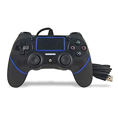 PS4 Wired Controller,Prodico Wired Controller Vibration Joystick for Playstation 4