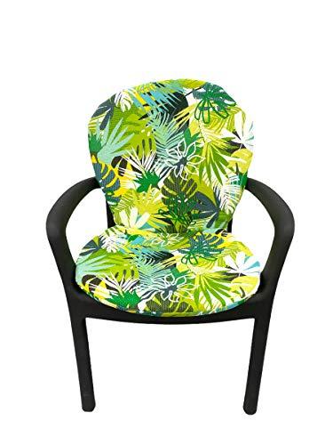 TIENDA EURASIA® Asiento Acolchado para Sillas de Terraza - 8 Estampados Tropicales - 50 x 90 cm - Ideal para Decorar la Terraza y Jardín (Tropical 4)