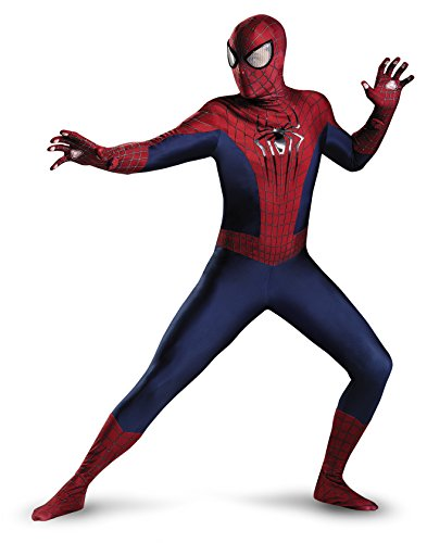 Disguise Men's Marvel The Amazing Movie 2 Spider-Man Theatrical Adult Costume, Blue/Red/Black, Medium/38-40