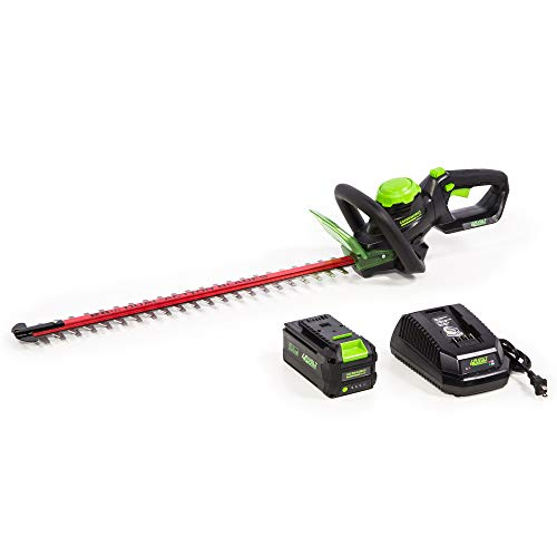 Greenworks HT-240 24-Inch 40V Cordless Hedge Trimmer, 3Ah Battery