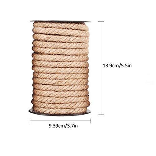 Corde en sisal Naturel de qualité supérieure pour Arbre à Chat griffoir Post Jouet Chat Escalade Cadre Bricolage Tissage Chats Faisant des Jambes de Bureau Corde de Liaison, 8 mm
