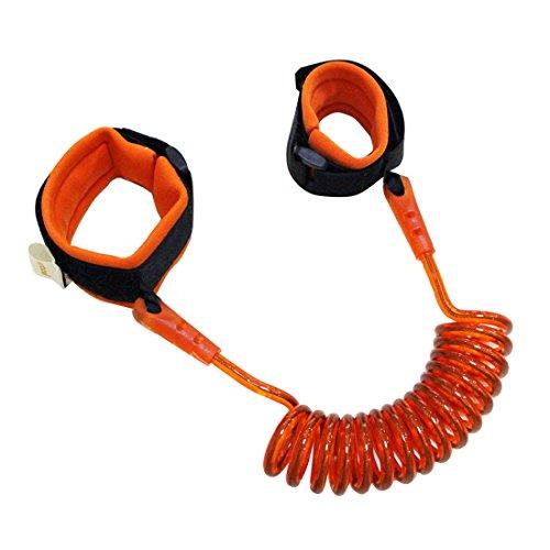 Kinder-Sicherheitsgurt-Kind-Leine-verlorener Endgelenkslenkers Zugseil Anti Verlorenes Armband, Länge: 2 m,Monsteramy (Color : Orange)