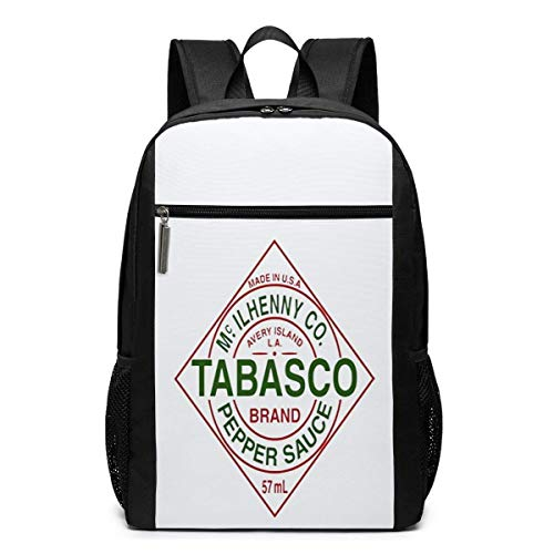 BGKO Unisex Tabasco Peperoni-Sauce Buffalo Wings Rucksack Business Computer Wasserfeste Rucksack Tasche Fit 17 Zoll Laptop