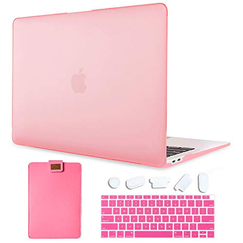 MAITTAO for MacBook Air 13 inch Case with Laptop Sleeve & Keyboard Cover & Dust Plug - Plastic Hard Shell Case for MacBook Air 13.3 Released in 2020 2019 2018 Model A2337 A2179 A1932, Pink