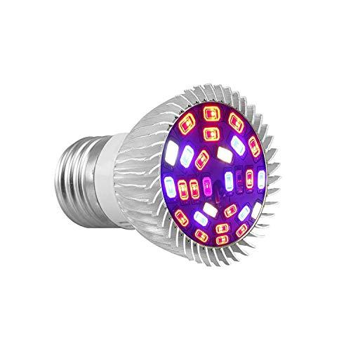 EEEKit 28W Full Spectrum E27 28 LED Grow Light Bulbs per Hydroponics Greenhouse Organic Indoor Plants