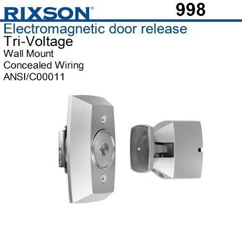 Rixson 998-689 Electromagnetic Door Holder, Wall Mounted, Aluminum Finish