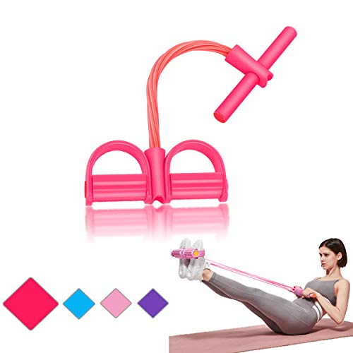 GGAME Pedal Resistance Band Exercise Equipment, Sit up Resistance Bands Fitness Equipment Elastic Band for Exercise Workout for Women Multi Function Tension Pull Rope for Yoga Weight Losing (Red)