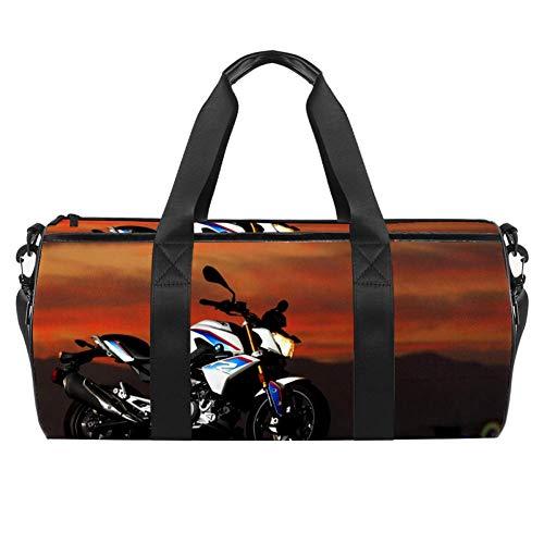 Desheze Sporttasche für Kinder Motorrad 02 Reisetasche Klein Schwimmtasche Wasserdicht Schultertaschen Badetasche Handtasche Umhängetasche Tasche für Sport Fitness Gym 45x23x23cm