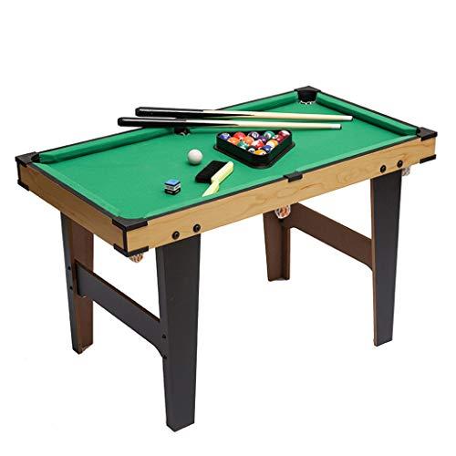 LiPengTaoShop Tischbillard Billardtisch Kinderheim Mini Puzzle Holzkugel Tisch Spielzeug Große Kinder Geburtstagsgeschenk Billard (Color : Green, Size : 80 * 43 * 60cm)