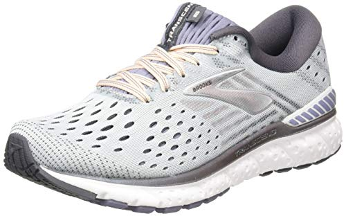 Brooks Transcend 6, Scarpe da Running Donna, Grigio (Grey/Pale Peach/Silver 067), 39 EU