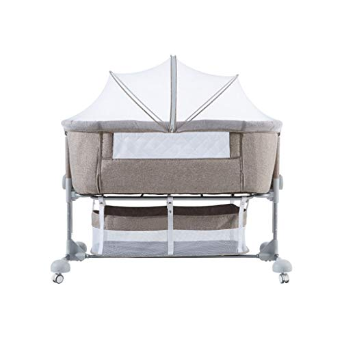 Best Deals! Portable Baby Travel Cot Basinet Side Sleeping Bassinette 110 X 56 X 78cm for 0-24 Month...